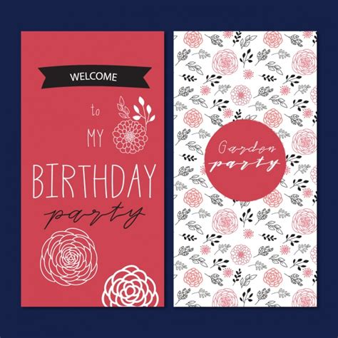 Birthday Card Template Freepik by Birthday Card Template Design Vector Free