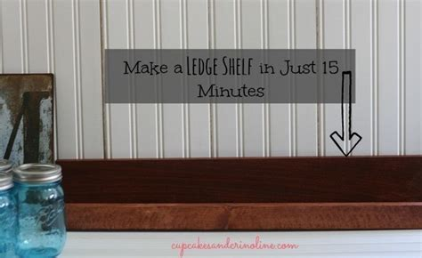 picture ledge step by step and pictures on 15 minute ledge shelf 183 how to make a wall shelf 183 home diy on cut out keep