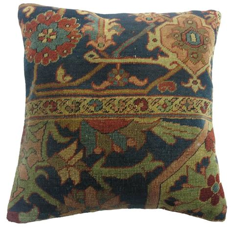 quality rugs and furniture quality serapi rug pillow for sale at 1stdibs