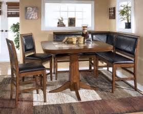 dining room table sets with bench dining room table corner bench set ashley crofton ebay
