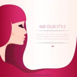 Hair Color Template by Hair Color Style Template Vector Free