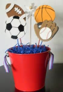 sports baby shower centerpieces 25 best ideas about sports centerpieces on