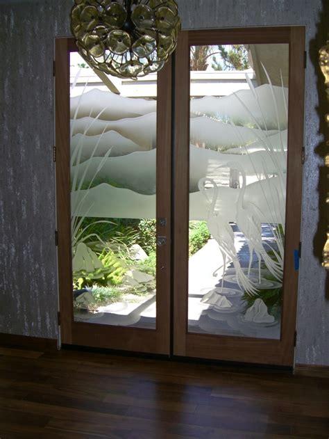 cranes cattails  glass entry doors sans soucie