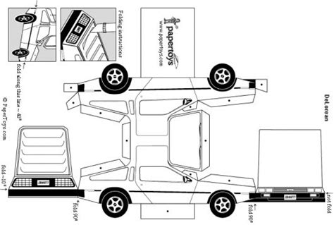 black and white car paper model templates paper toys cartype
