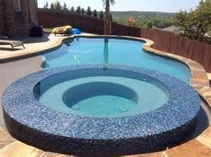 dark blue mosaic tiles best pool tile