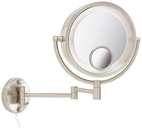 jerdon hl8515n 8 5 inch lighted wall mount makeup mirror