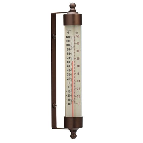 Termometer Outdoor 483bz spirit filled metal thermometer 7 53 quot bronze ebay