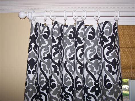 black and white curtain panel black grey and white curtain panels by cathyscustompillows