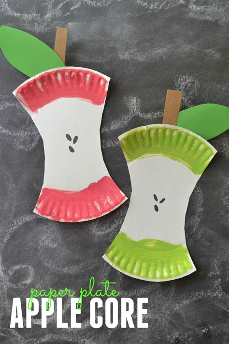 Learn Paper Crafts - craft project paper plate apple craft
