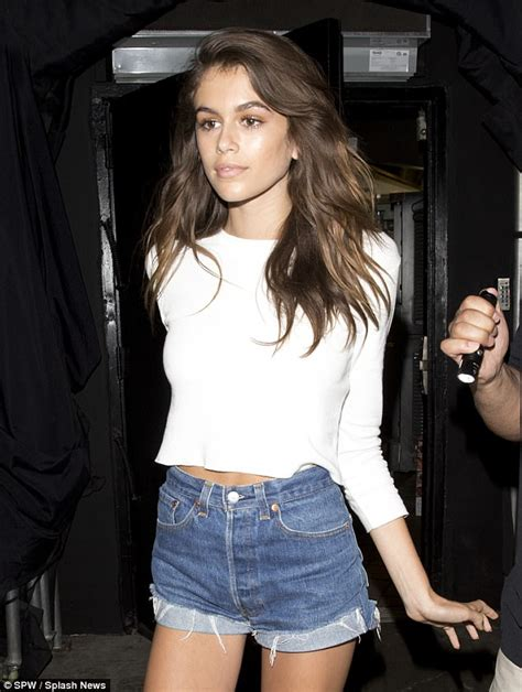 kaia gerber earrings kaia gerber enjoys a night out in west hollywood daily