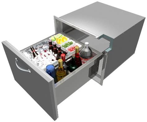 Counter Drawer by Alfresco 26 Inch Counter Insulated Drawer