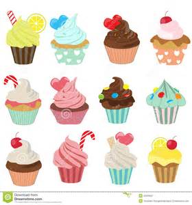 cupcake icon set stock vector image 42925947
