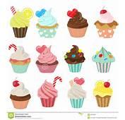 Cupcake Icon Set Stock Vector  Image 42925947