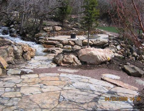 large patio stones patio landscaping ideas
