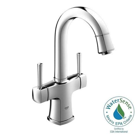 single hole two handle bathroom faucet grohe grandera single hole 2 handle bathroom faucet in