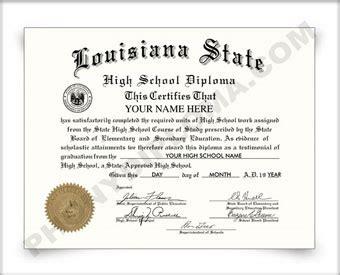 fake louisiana high diplomas degrees certificates