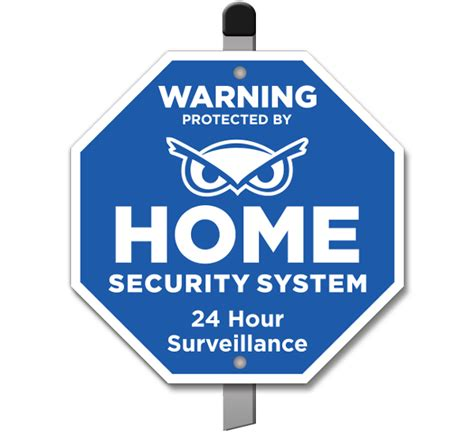 protected by home security system yard sign f8100 by