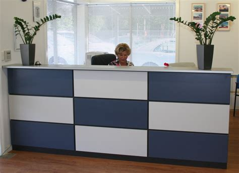 Custom Made Reception Counters Paramount Business Office Reception Desk Perth