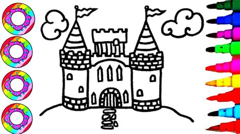 drawing barbie  castle coloring pages  kids drawing