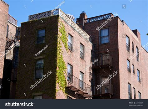 Apartments In Boston Beacon Hill Apartment Building On Beacon Hill Covered Stock Photo