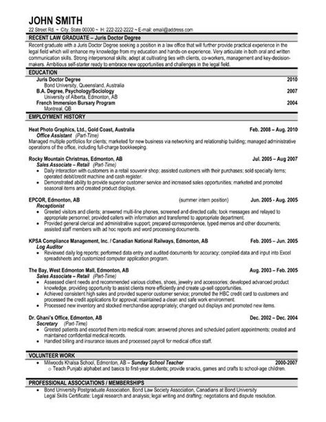 graduate program resume sles 59 best images about best sales resume templates sles on professional resume a
