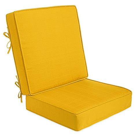 2 piece outdoor deep seat cushions in yellow bed bath