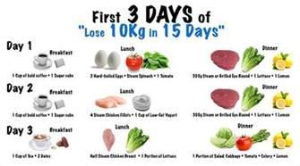 lose 10kg in 15 days diet plan diet pinterest