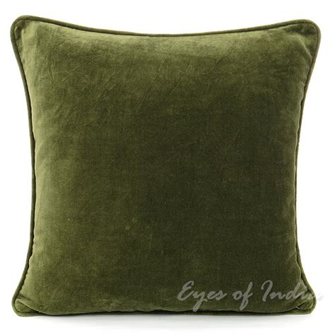 Green Velvet Throw Pillows by 16 Quot Green Velvet Cotton Pillow Cushion Cover Throw