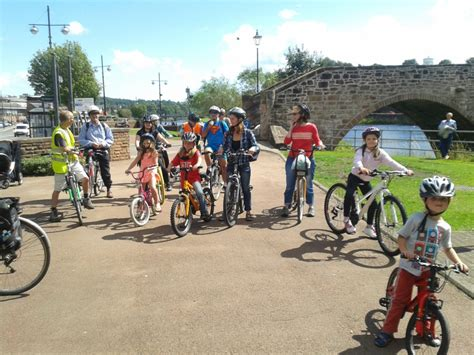summer bike cheery bells and chocolate covered children cycling dumfries