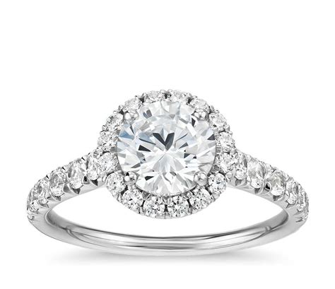 Pav 233 Engagement Ring In 14k Yellow Gold 1 blue nile wedding rings is my wedding band overpowering my