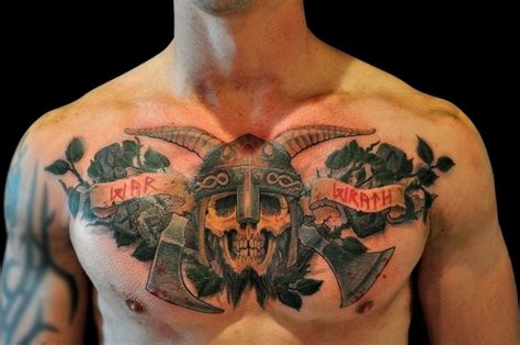 viking tattoo chest piece 254 best images about war sleeve project on pinterest