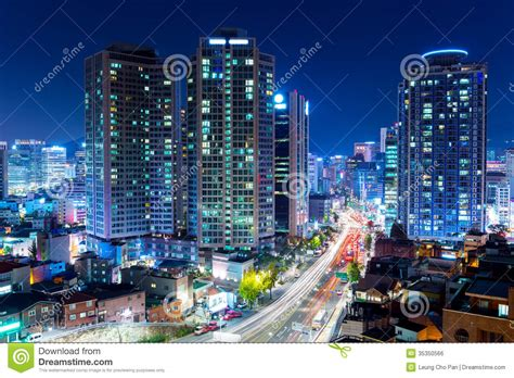 Residential Plans by Seoul City At Night Stock Photo Image Of South