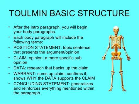Toulmin Outline Argument by Toulmin Model Of Argumentation