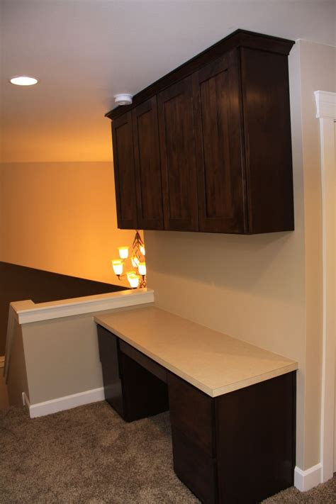 built in desk with upper cabinets built in desk and upper cabinets american heritage shaker