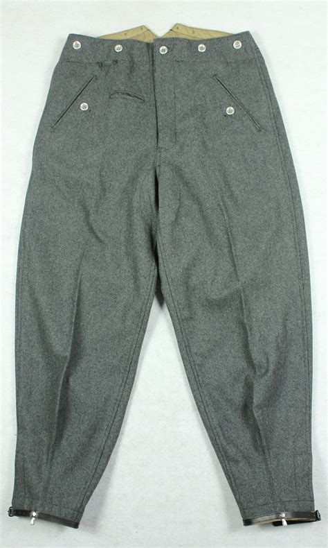 german mountain wwii german mountain troops m37 gray wool trousers 49 49 hikishop