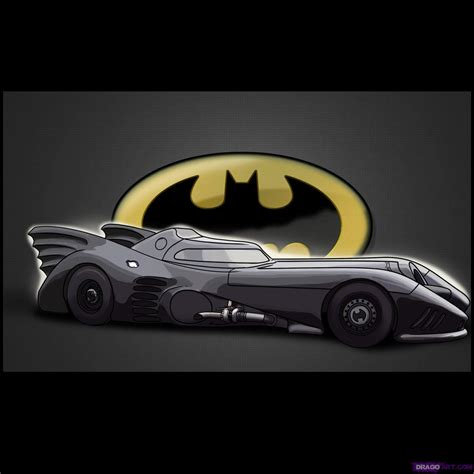 batman car drawing how to draw the batmobile step by step dc comics comics