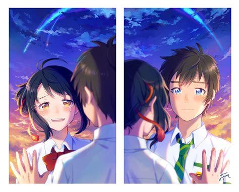 film anime kimi no na wa pixiv id 12284281 kimi no na wa miyamizu mitsuha