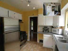 Tiny Galley Kitchen Designs Kitchen Small Galley Kitchen Makeover With Yellow Design Small Galley Kitchen Makeover Small