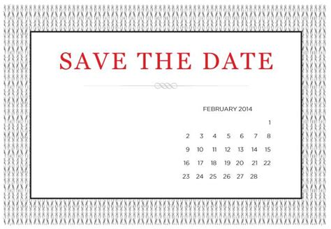 Save The Date Calendar Template Free 4 printable diy save the date templates