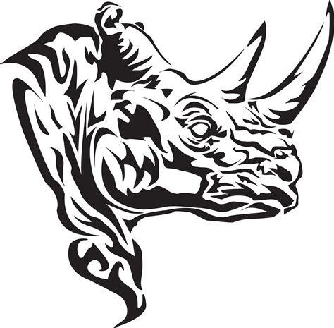 pink rhino tattoo tribal rhino www pixshark images galleries