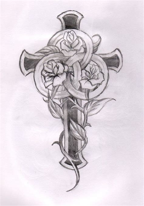 tattoo cross with roses designs 60 best roses and crosses images on pinterest sleeve