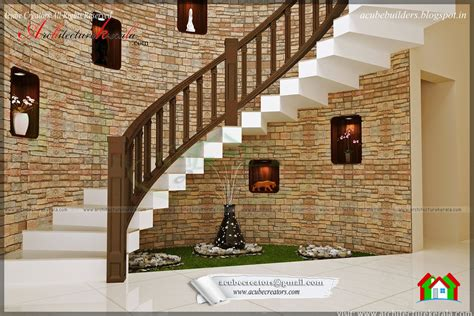 kerala home design staircase beautiful stair interior design architecture kerala
