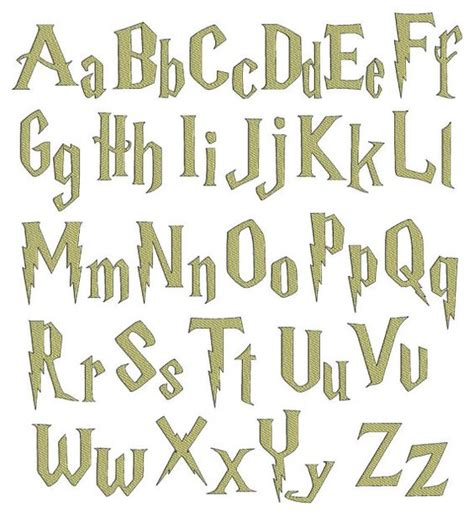 harry potter fonts harry potter font alphabet www imgkid com the image