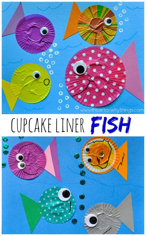 fishing crafts for fish craft out of cupcake liners i crafty things