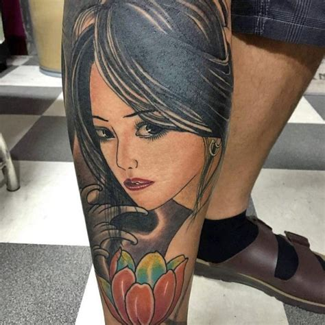 geisha tattoo thigh geisha tattoo images designs