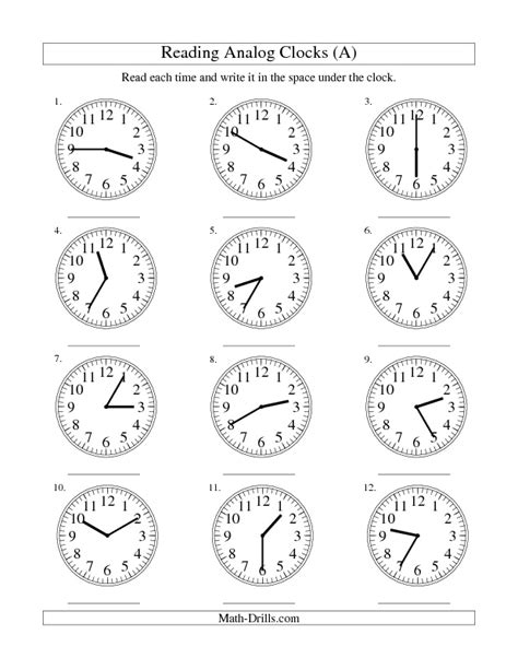 clock worksheets nearest 5 minutes 16 best images of clocks to the nearest 5 minutes