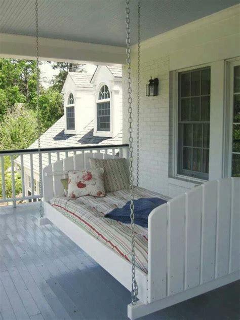 swing home old twin bed porch swing home is where the heart is