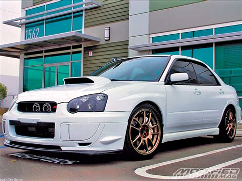 subaru modified chris thys 2005 subaru wrx sti modified magazine
