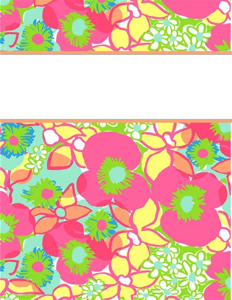 lilly pulitzer binder templates 6 best images of binder cover templates printable