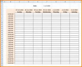 hourly calendar template hourly daily planner template calendar template 2016